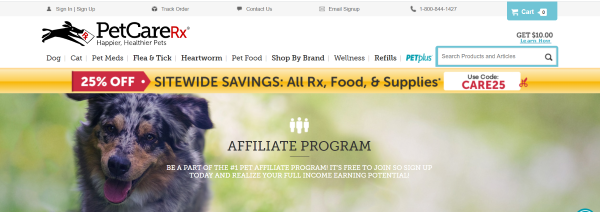 PetcareRx-Affiliate-page